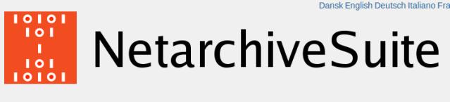 netarchivesuite-frontpage